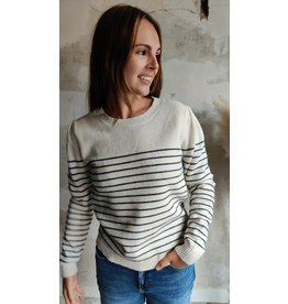 STRIPED PULLOVER OFFWHITE