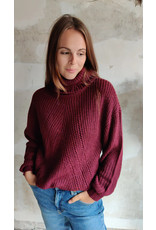 CORY ROLLNECK PULLOVER BORDEAUX