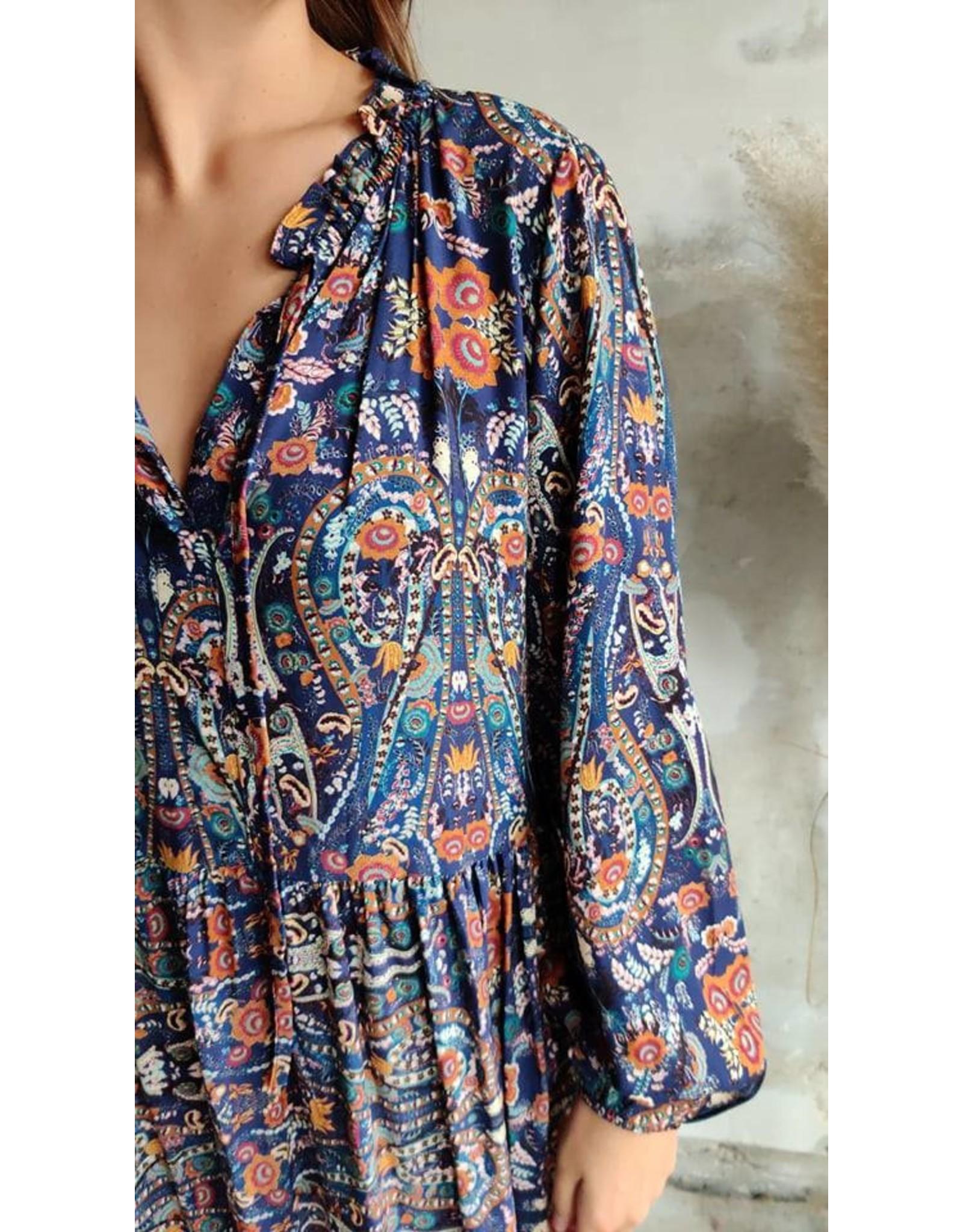 PHEBE DRESS PRINT BLUE