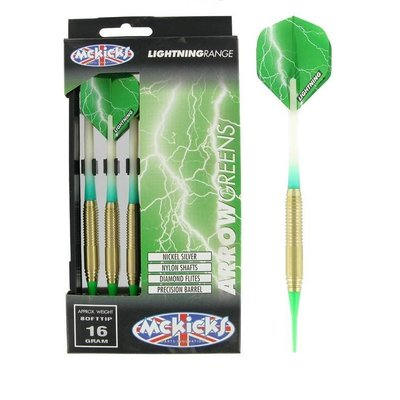 McKicks Arrow Greens Silver Soft Darts