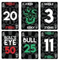 Bull's Bull's Deal a Dart card game