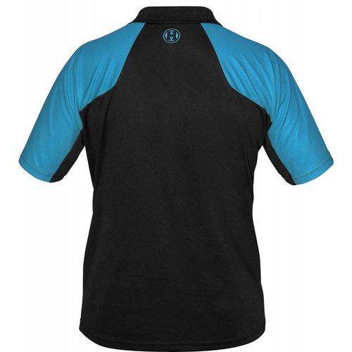 Harrows Harrows Vivid Dartshirt Black & Aqua Blue