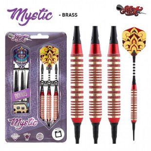 Shot Mystic Brass Red Soft Darts