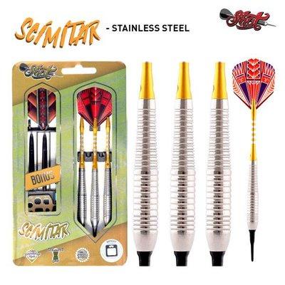 Shot Scimitar Stainless Steel Soft Darts