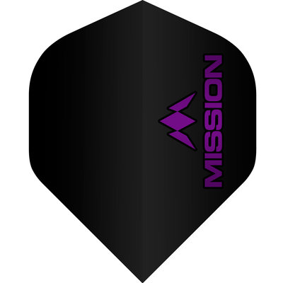 Mission Logo Std No2 Black & Purple