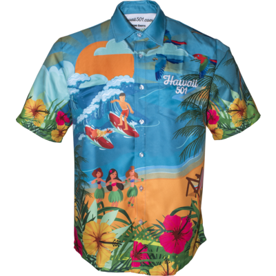 Wayne Mardle Hawaii 501 Dartshirt
