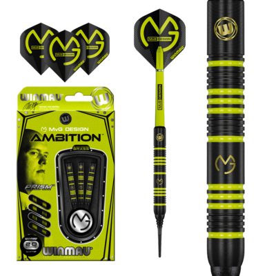 Michael van Gerwen Ambition Black Coated Brass Softdarts
