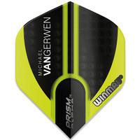 Winmau Michael van Gerwen Prism Alpha Black Green Flight V1
