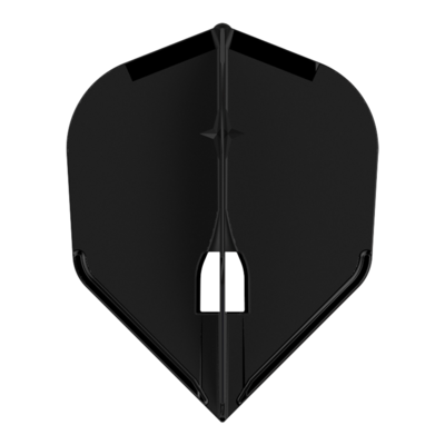 L-Style Champagne Flight Shape Solid Black