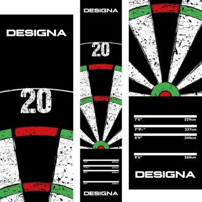 Designa Carpet   Dartboard 20 - 290cm x 60cm Dartmatte