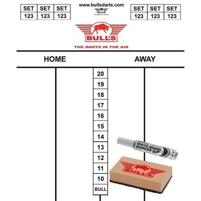 Bull's Scorebord Set 35 x 25