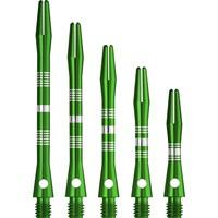 Dartshopper Dartshopper Aluminium Regrooved Green Shafts