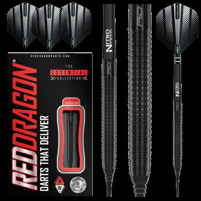 Red Dragon Razor Edge Black 8 Flight 5% Softdarts