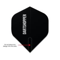 Dartshopper Flights bedrucken mit Text 100 Mikron (10 Satz)