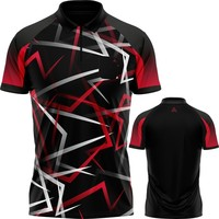 Arraz Arraz Flare Dartshirt Black & Red