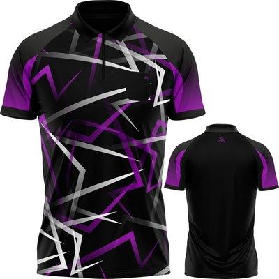 Arraz Flare Dartshirt Black & Purple