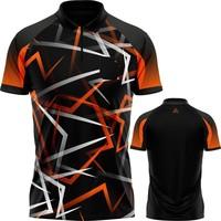 Arraz Arraz Flare Dartshirt Black & Orange
