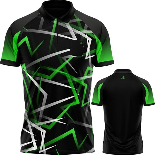 Arraz Arraz Flare Dartshirt Black & Green