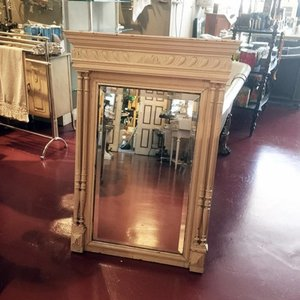 Antique Mirror in a Wooden Frame