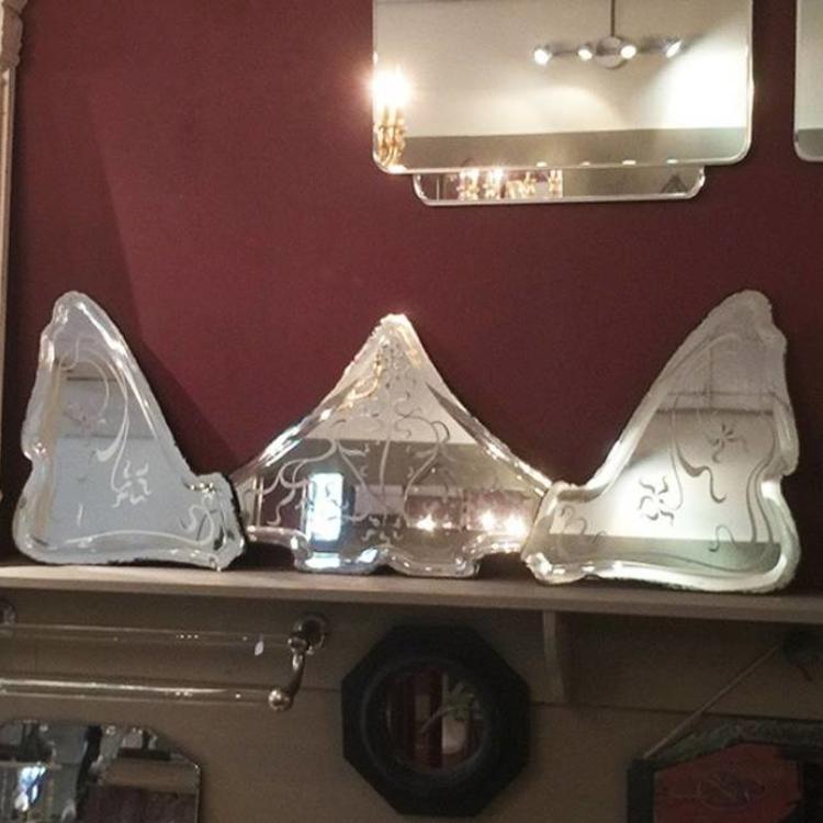 Set Of Three Antique Mirrors In Art Nouveau Style Affaire D Eau