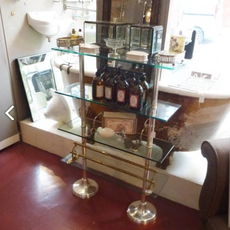 Marvelous Glass Etagere On Nickel Stands Home Interior And Landscaping Ymoonbapapsignezvosmurscom