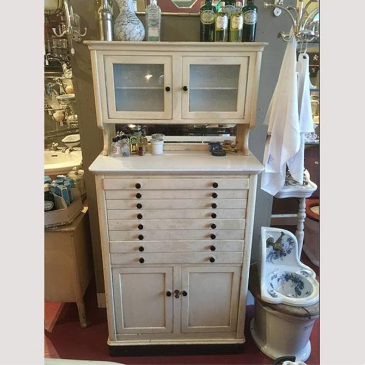 Small Antique Cupboard Used By A Dentist