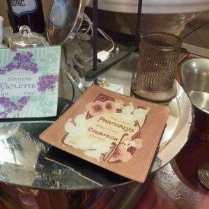 Soap Dish Decoupage Savon Violette Carre