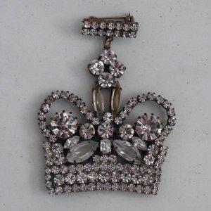 Strass Brooch Crown