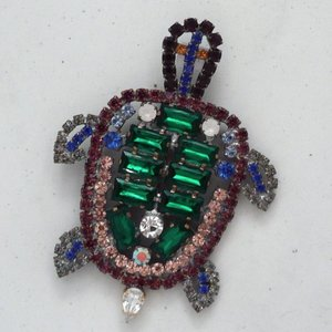 Strass Brooch Turtle