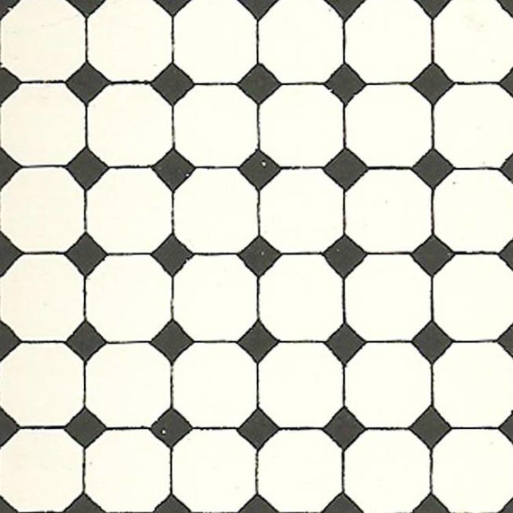 Old English Sanitair.Floor Tile Octagonal With Inlays