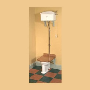 Toilet Hoog Porselein Troonzitting Thomas Crapper