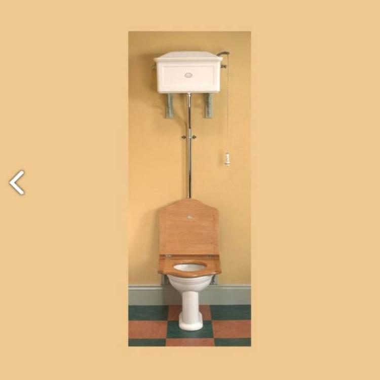 Wc Pot Hoog Model.Toilet Met Hooghangende Stortbak Van Porselein
