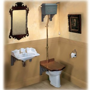 Toilet with Throne Seat Thomas Crapper