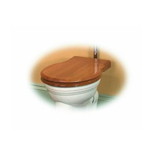 WC Bril Ovaal Massief Hout Thomas Crapper