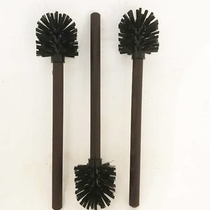 Toilet Brush with a Wooden Grip