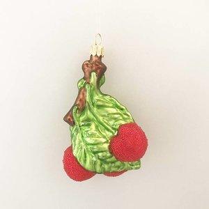Kerstbal Kersen aan Takje Frosted