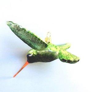 Kerstbal Kolibrie Groen