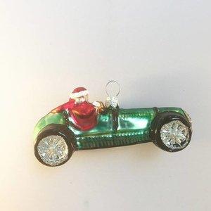 Kerstbal Santa in een Auto