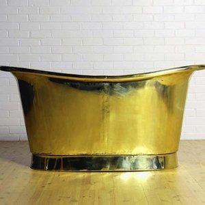 Brass Bathtub Cuivre Jaune