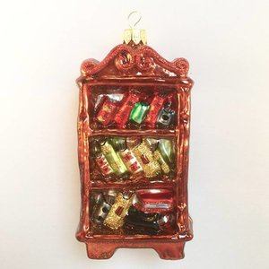 Christmas Decoration Bookcase Red