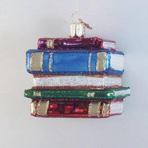 Kerstbal Boekenstapel