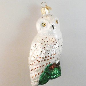 Christmas Decoration Great White Owl