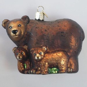 Christmas Decoration Bear with Cubs