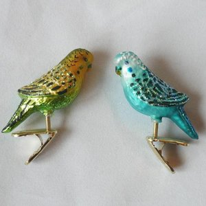 Christmas Decoration Clip Miniature Parakeet