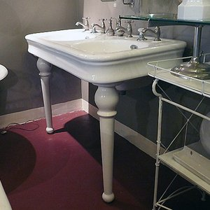 Antique Washbasin Porcher On Two Legs