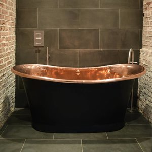 Brass Bathtub Charcoal