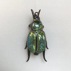 Christmas Decoration Scarab Blue Green