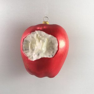 Christmas Decoration Apple with a Bite