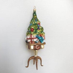 Kerstbal Kerstboom op een Tafeltje