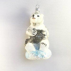 Christmas Decoration Polar Bear with Fish